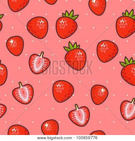 Seamless strawberry