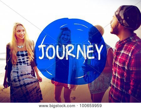 Journey Travel Destination Exploration Goals Concept