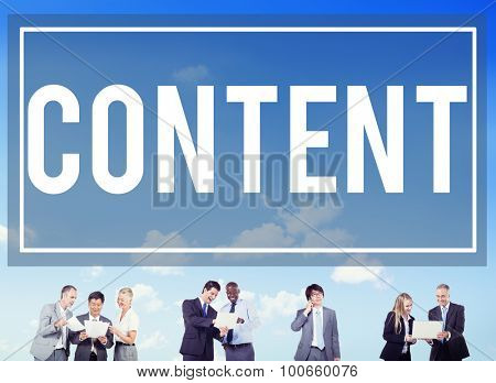 Content Blogging Communication Publication Concept