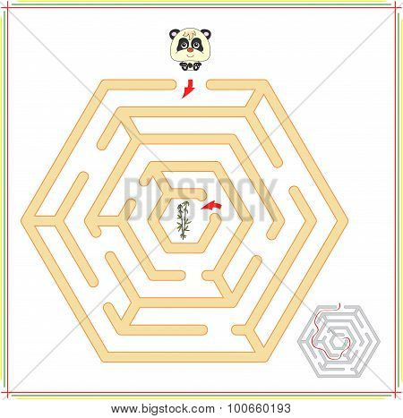 Panda Must Go To Bamboo Through The Maze And Don't Get Lost