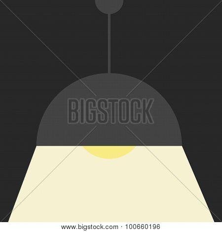 Gray ceiling lamp