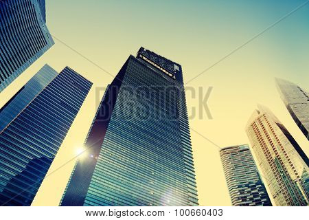 Office Building Cityscape Personal Perspective Concept