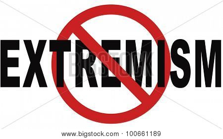 stop extremism political and religion extreme left and right jew catholic and muslim stop terrorism no discrimination