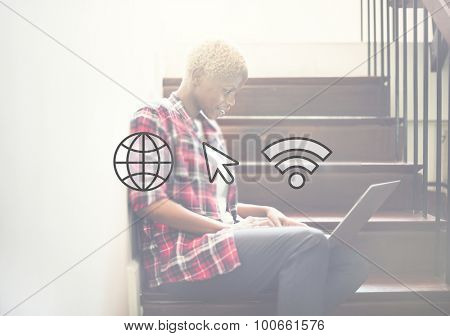 Internet Networking Wifi Icon Global Communication