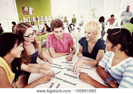 Group of Student in University Knowledge Concept