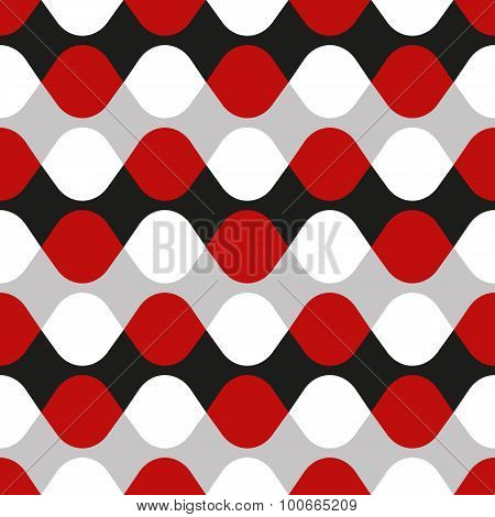 Seamless geometric vibrating vector dot pattern