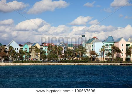 Urban scenery on Paradise Island Nassau Bahamas