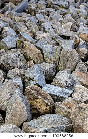 a stack of natural stone located next to each other. symbol photo