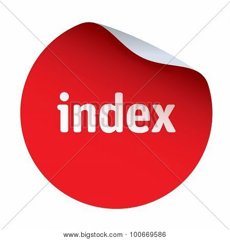 Red Vector Sticker and Text Index