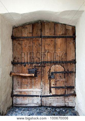 Old entry door in Nauders Austria