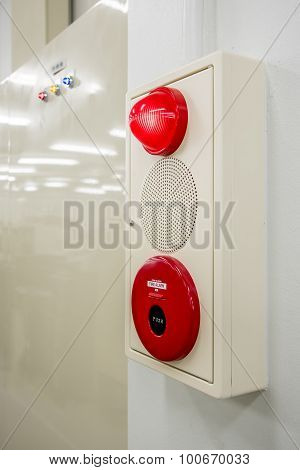 Fire Alarm Box , Press Switch ,siren And Red Light