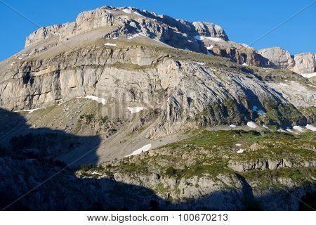 Bernera Peak in the Pyrenees, Aragues Valley, Aragon, Huesca, Spain.