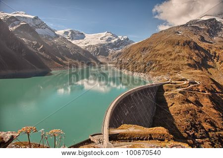 Mooserboden high altitude reservoir near Kaprun - Zell am See Austria