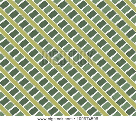 Vintage Lines Pattern. Green