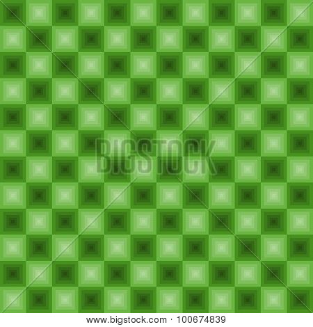 Neon Squares Pattern Green