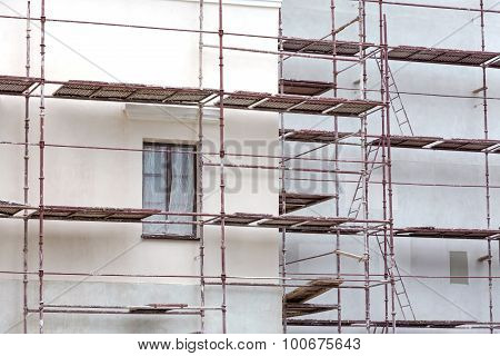 Scaffolding For House Renovation