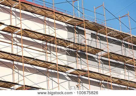 Scaffold On Wall