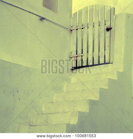 White Stairs In Oia, Santorini, Greece