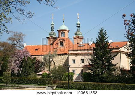 Cathedral Church Of Saint Lawrence On Petrin Hill In Prague, Czech Republic