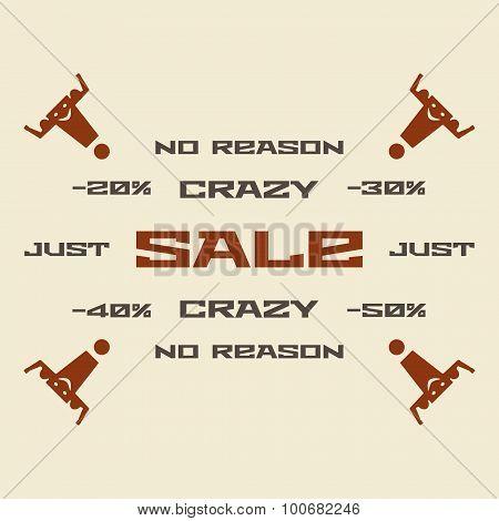 No reason sale vector illustration.