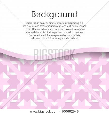 Seamless vector abstract background. Vector booklet list.