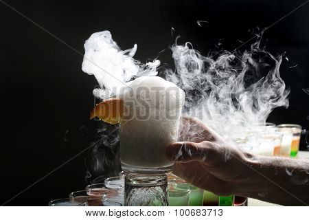 Cocktail With Smoke