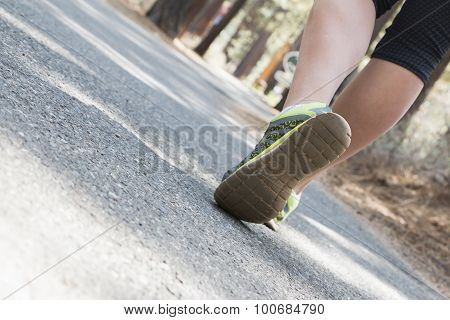 Young Girl Exercising