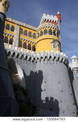 View From The Bottom Of Pena National Palace