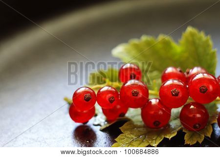 Red Currants On A Heavily Blurred  Background