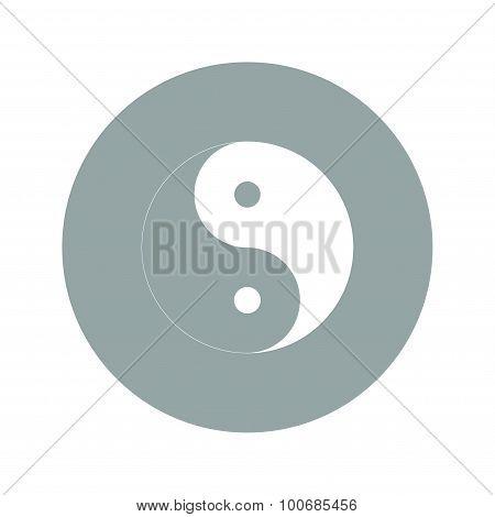 Yin Yang Symbol - Black And White Vector Illustration.