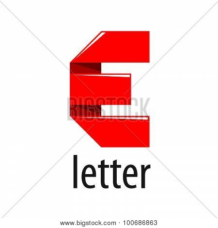 Vector Logo Red Tape In The Form Of Letter E