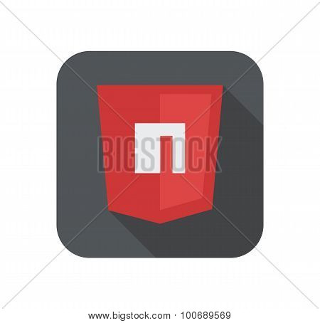 Vector illustration of purpur shield with N letter for packet manager, isolated site development ico