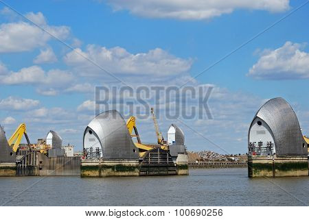 Thames Barrier, London.