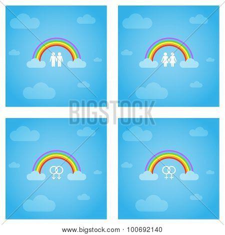 Gay pride concept.