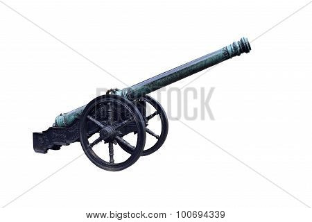 beautiful vintage carved on the cannon