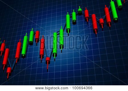 Forex Candlestick Chart Over Dark