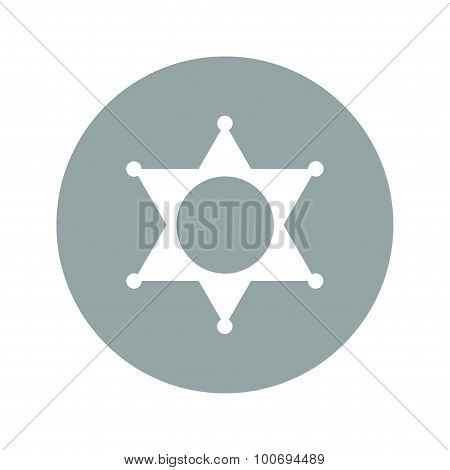 Sheriff Star. Collection Modern Trend Concept Design Style Vector Illustration Symbol
