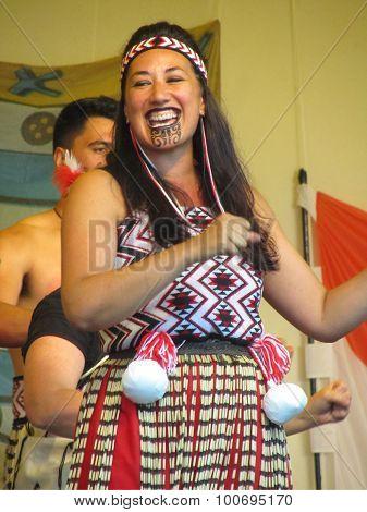 Female Maori Performer