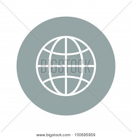 World Globe Icon, Pictogram Icon