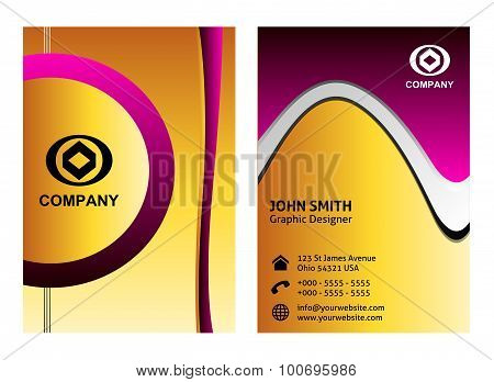 Vertical Business Card template set