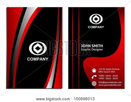 Vertical Business Card template set