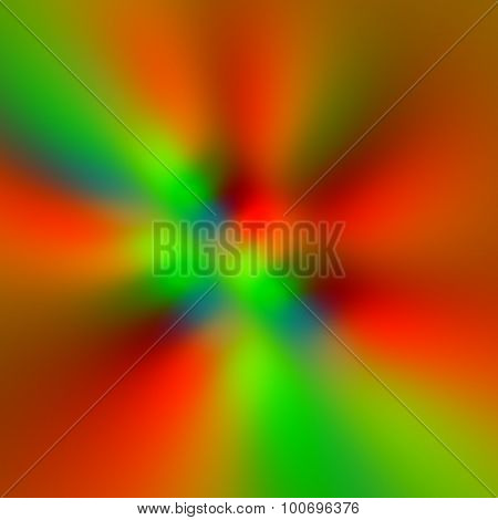 Colorful blurry pixels background. Ray beams. Red colors. Wind front. Warp drive. Motion blur. Glow.
