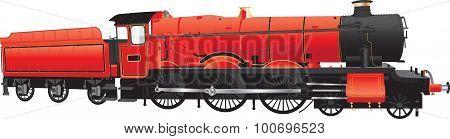 Red Steam Loco