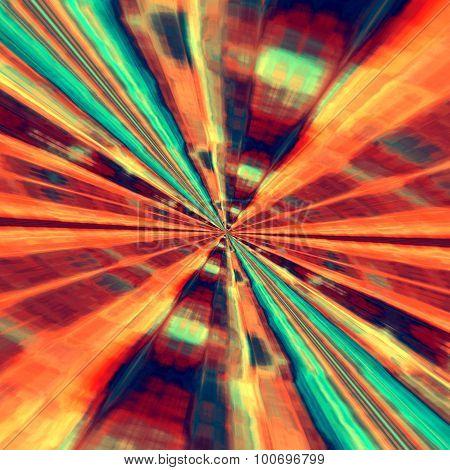 Fractal art illustration. Big bang rays. High speed blast. For ornate book cover.