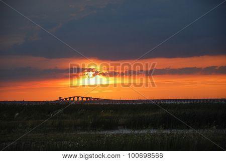 Twilight At The Bridge
