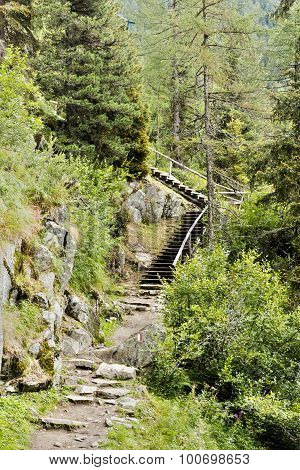 Mountain Path With Stair