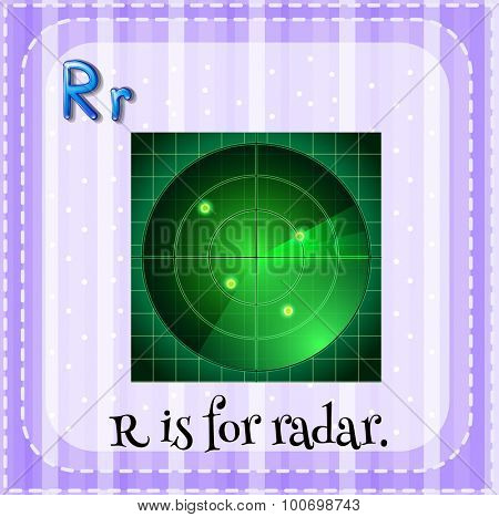 Alphabet R is for radar illustration