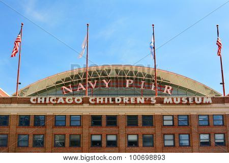 CHICAGO, ILLINOIS - AUGUST 22, 2015: Chicago Childrens Museum. The museum is located on Navy Pier, along the shore of Lake Michigan.