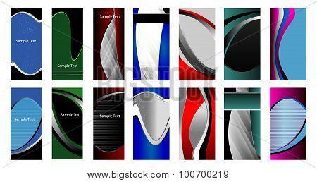 Wave background design banner set