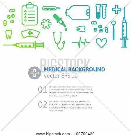 medical instruments background